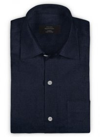Pure Navy Linen Shirt