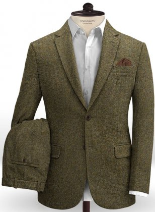 Harris Tweed Ridge Brown Herringbone Suit