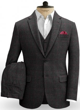 Bristol Charcoal Tweed Suit