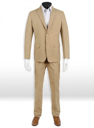 Tropical Tan Linen Suit- Ready Size