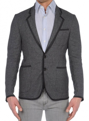 Jacket With Black Trim