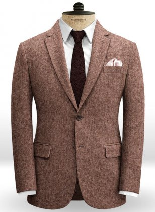 Galway Wine Herringbone Tweed Jacket