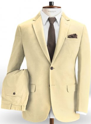 Stretch Summer Weight Sun Khaki Chino Suit