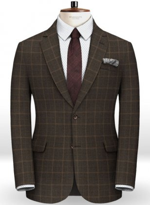 Pisa Brown Feather Tweed Jacket