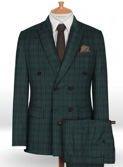 Napolean Sola Green Wool Suit