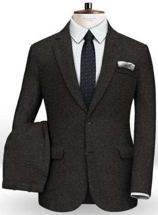 Light Weight Hamburg Charcoal Tweed Suit