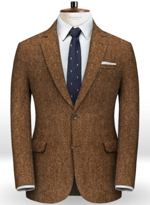 Harris Tweed Rust Herringbone Jacket