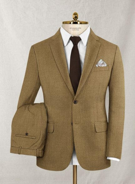 Italian Wool Cashmere Tortilla Brown Suit
