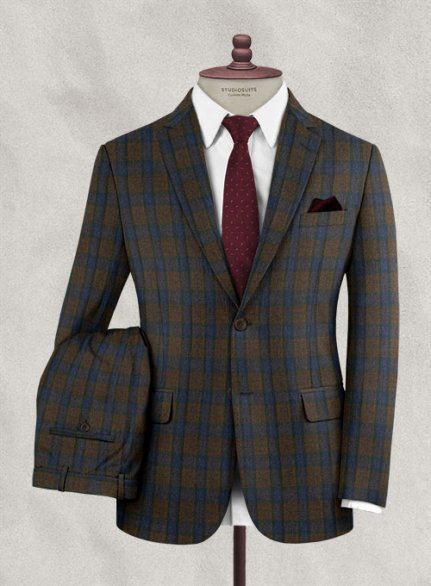 Italian Wool Cashmere Orsoto Checks Suit