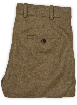 Light Weight Rust Brown Tweed Pants - 32R