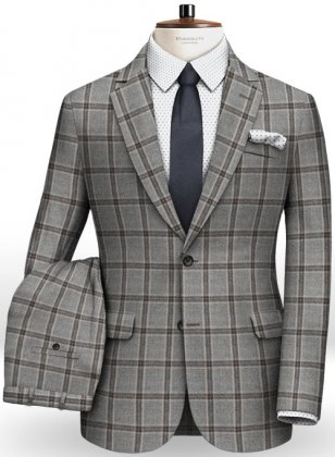 Light Weight Southrail Gray Tweed Suit