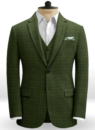 Vintage Milan Green Tweed Jacket