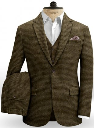 Houndstooth Melange Tweed Suit