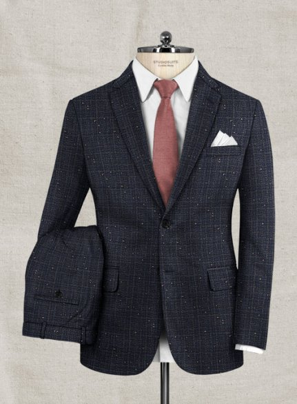 Italian Wool Cotton Cashmere Donegal Olquet Suit