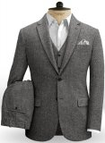 Gray Herringbone Flecks Donegal Tweed Suit