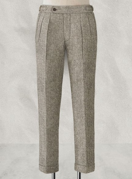 Light Weight Brown Highland Tweed Trousers