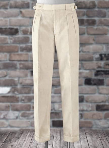 Light Beige Colonel Corduroy Trousers