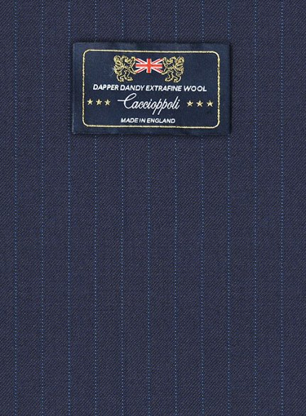 Caccioppoli Dapper Dandy Osotti Blue Wool Suit