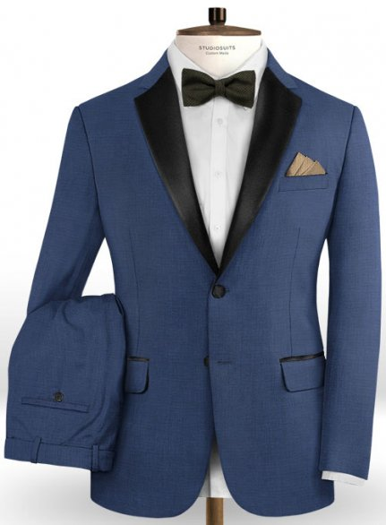 Napolean Cosmo Blue Wool Tuxedo Suit