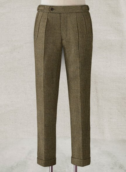 Light Weight Rust Brown Highland Tweed Trousers