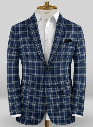 Scabal Taormina Feroti Blue Wool Jacket