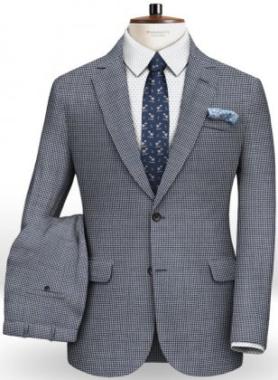Italian Wool Silk Cielo Suit