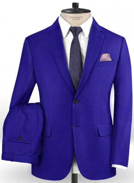 Scabal Cobalt Blue Wool Suit