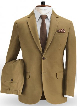 Summer Weight Khaki Chino Suit