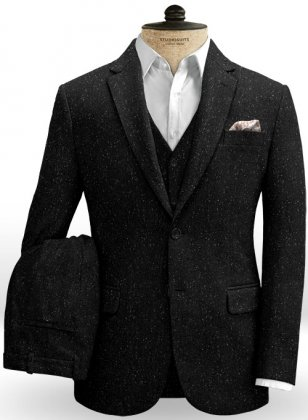 Black Flecks Donegal Tweed Suit