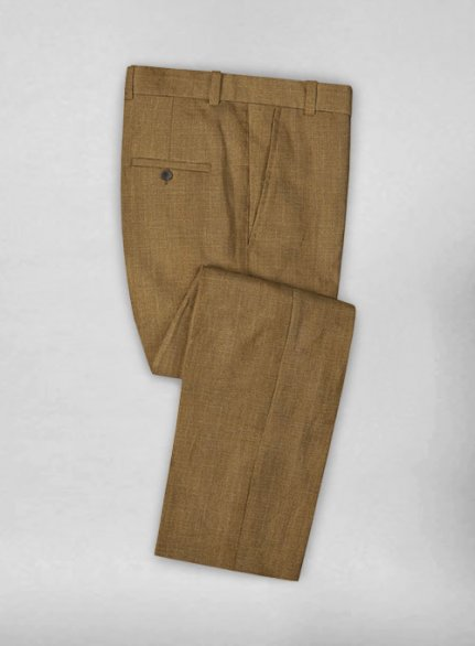 Sepia Brown Pure Linen Pant