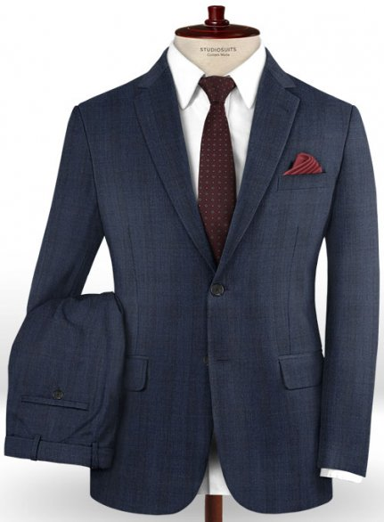 Reda Lusra Blue Wool Suit