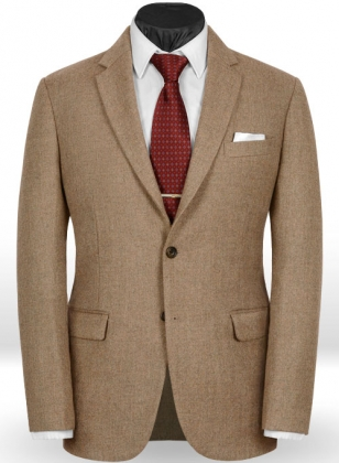 Light Weight Melange Brown Tweed Jacket - 40R