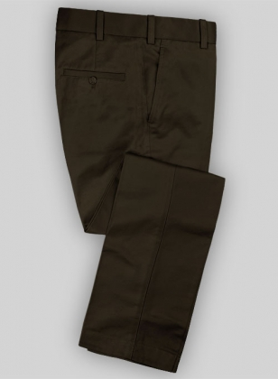 Forest Brown Tailored Chinos