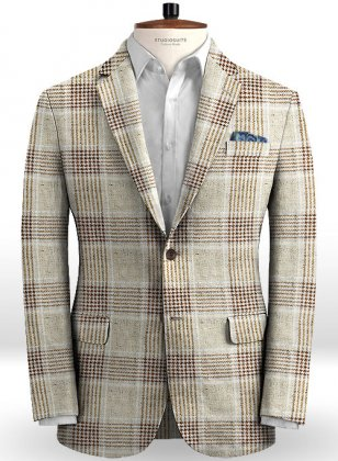Solbiati Friday Brown Linen Jacket