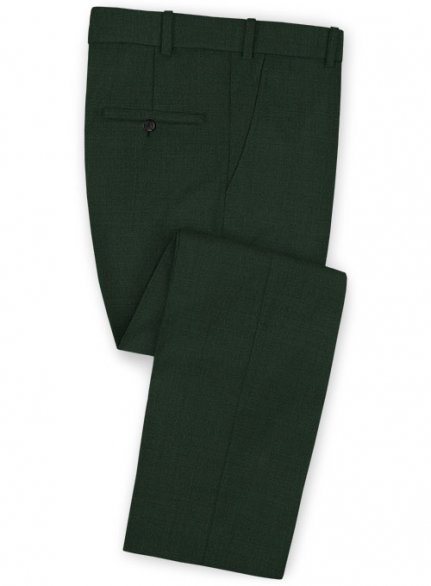 Stretch Green Wool Pants