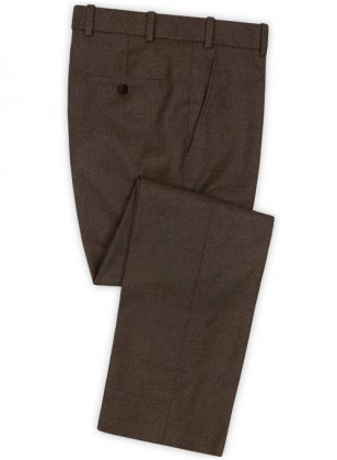 Light Weight Dark Brown Tweed Pants