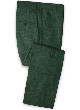 Solbiati Bottle Green Linen Pants