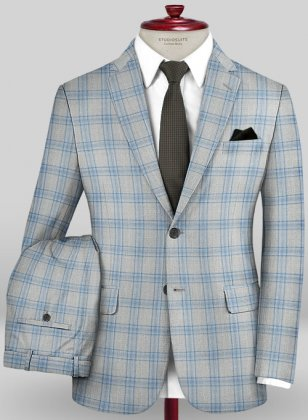 Scabal Mosaic Tolli Gray Wool Suit