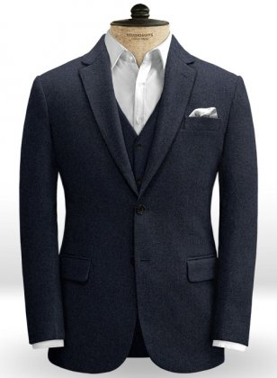 Blue Heavy Tweed Jacket