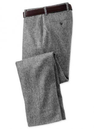 Pure Wool Tweed Pants