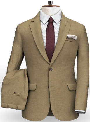 Napolean Moss Green Wool Suit