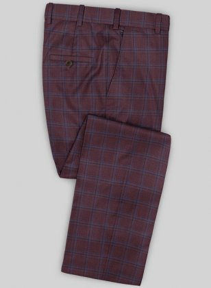 Scabal Mosaic Rini Wine Wool Pants
