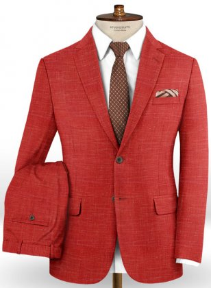 Mystic Red Wool Suit