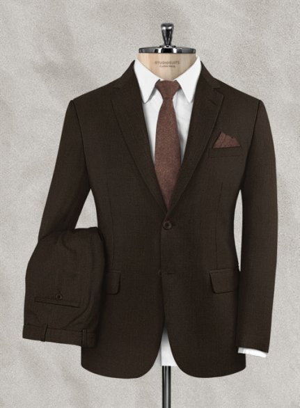 Zegna Armato Brown Wool Suit