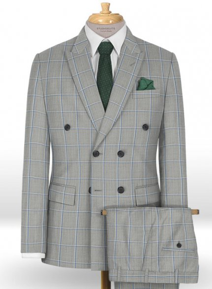 Napolean Aria Light Gray Wool Suit