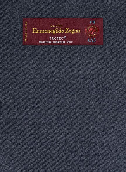 Zegna Trofeo Slate Blue Wool Jacket