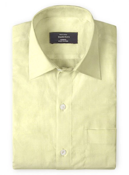 Naples Yellow Cotton Linen Shirt