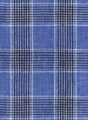 Solbiati Blue Checks Linen Suit