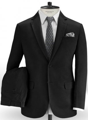 Black Stretch Chino Suit