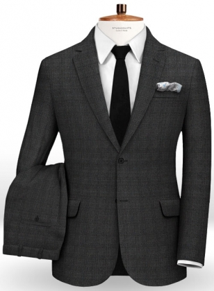 Glen Wool Charcoal Suit